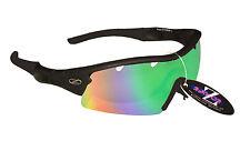 RayZor Uv400 Running Sunglasses 1 Piece Vented Blue Green Mirrored Lens RRP£49