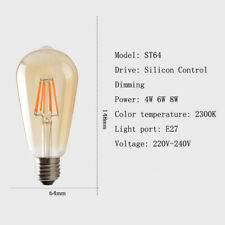 E27 LED Light Bulb Lamp Vintage Retro Filament Edison Antique Dimmable Bulbs