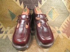Dr Doc Martens 8305 Mary Jane Brown Leather Double Strap  UK 5 USA 7 made in UK