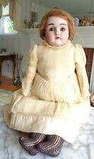 Antique Germany Bisque Doll with Kid Leather Body