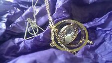 Harry Potter pendant set of two Deathly hallows Time Turner