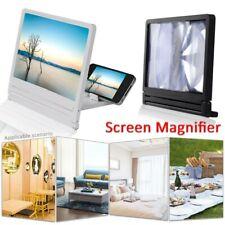 3D Teléfono Móvil Pantalla Lupa Amplificador de vídeo HD para Smartphone Soporte