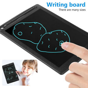 Children LCD Writing Drawing Tablet Erasable Notepad Kids Adults Doodle Board E