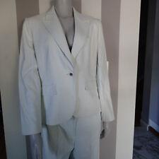 TAHARI PANTS suit,2 PC blazer,jacket,SZ 10p white blue stripes t3