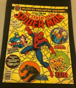Marvel Treasury Edition #22 Sensational Spider-Man 1979 Black Panther Cover, etc