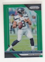 RUSSELL WILSON 2018 Panini Prizm Green Prizm Parallel #19 Seahawks Mint