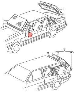 Genuine Volkswagen Door Window Left Front NOS Quantum syncro 32 321 321845251D