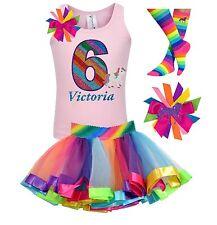 Bubblegum Divas Unicorn Shirt 6th Birthday Rainbow Party Girls Personalized Gift