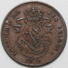 1870 | Belgium 2 Cents | Copper | Coins | KM Coins