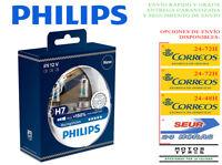 2 BOMBILLAS PHILIPS RACING VISION H7 +150% LUZ LAMPARAS PX26d COCHE MOTO XTREME
