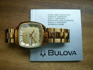 Bulova Accutron 100 Day Date Herrenarmbanduhr 1975 2181 Jubiläumsmodell Vintage