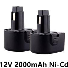 2 Stück 12V 2000mah AKKU Für Dewalt DE9071 2802K DE9074 DE9075 DC740K 12V 2.0AH