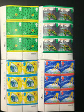 Gb Qeii Sg1629-1632 The Green Issue Set Cylinder Blocks of 6 1992 Stamps Mnh