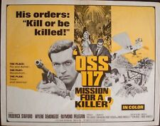 OSS 117 FURIA A BAHIA MISSION FOR A KILLER half sheet movie poster 22x28 1965