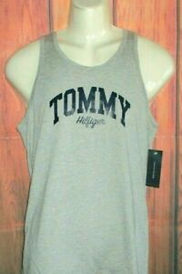 MENS TOMMY HILFIGER GRAY HEATHER TANK TOP  T-SHIRT SIZE S