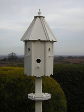 "TITCOTE DOVECOTE STYLE BIRD HOUSE/BIRD BOX (HANDCRAFTED)  "" + FREE FEEDING TRAY"""