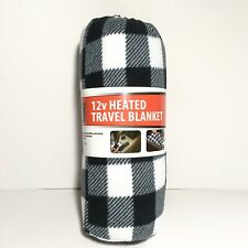 Travel Heating Blanket for Car/Truck/Boat High & Low Temps White and Black 12v