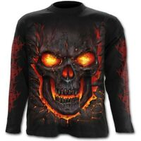 Spiral Direct SKULL LAVA - Long sleeve T-Shirt Death/Flames/Reaper/Skulls/Tee