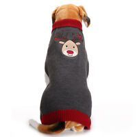 Pet Dog Christmas Sweater Puppy Cat Winter Clothes Reindeer Jumper Coat Large