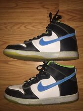 Nike Dunk High As Prm Shoes Mens White Blue Glow Premium Size 14 Used Lightly