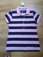 H&M Collared Short Sleeve Striped Tops & Shirts for Women