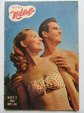 Neue Melange 7/1952, Ava Norring, Ann Crawford, Greta Garbo, FKK auf Sylt