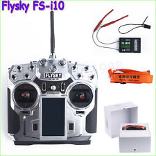 "FlySky FS-i10 2.4g Digital 10Channel Transmitter 3.55""LED Screen FS-IA10Receiver"