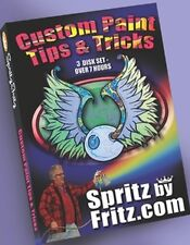 "Spritz by Fritz ""Paint tips and Tricks"" ORIGINAL 3 DVD SET Kustom harley hot rod"