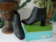 NIB WOMENS KATE SPADE LEAH FASHION BLACK CALF LEATHER ANKLE BOOTS SIZE 8.5 $325