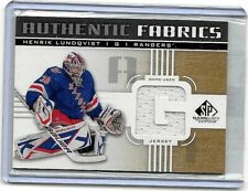HENRIK LUNDQVIST 2011-12 SP GAME USED AUTHENTIC FABRICS GAME USED JERSEY(G)