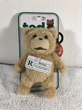"""TED"" R-RATED TALKING 6 INCH PLUSH TEDDY BEAR CLIP/BANGLE MOC"