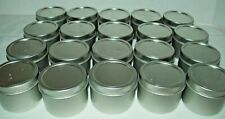 20  Aluminum Round Lip Balm Lotion Tin Containers with Lids 2 oz. NEW