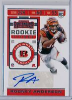 RODNEY ANDERSON  > 2019 Contenders Rookie Ticket AUTO SP - Bengals RC