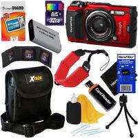 Olympus Tough TG-5 Waterproof Wi-Fi Digital Camera (Red) + Battery + 32GB Kit