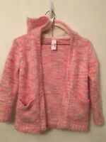 XS (4/5) Cat and Jack Girls Pink Fuzzy Sweater Cardigan New NWOT Hooded