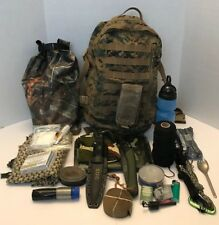 72 Hour Survival/Emergency Kit with Tested Equipment (USMC Assault Pack Marpat)