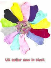 Trainer socks ladies Liner Ankle sock  Womens teenagers Cotton Rich mix colours