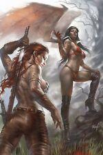 Vampirella Red Sonja #4 Lucio Parrillo Limited Virgin Variant Dynamite