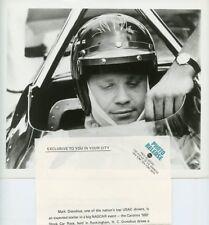 MARK DONAHUE ABC CHAMPIONSHIP AUTO RACING CAROLINA 500 ORIGINAL '72 ABC TV PHOTO