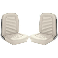 1964 1965 Mustang Premium Upholstery Coupe Front Buckets Rear White TMI NEW