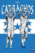 FIFA World Cup Soccer Event Brazil | TEAM HONDURAS Poster | 11 x 17 Inches