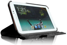 "Galaxy Tab 3 7"" 360º Rotating Portfolio Case & Stand - Black/Blue/Pink/Red"