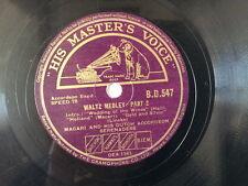 "78 rpm 10"" MACARI DUTCH ACCORDEON waltz medley 1+2"