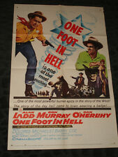 One Foot in Hell folded movie poster - 1960 Alan Ladd Western