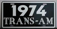 1974 74 PONTIAC TRANS-AM LICENSE PLATE TRANS AM 400 455 SUPER DUTY RAM AIR HURST