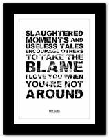 ❤ BIFFY CLYRO Glitter 1 song words typography poster art  print - A1 A2 A3 or A4