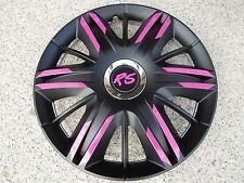 "4 Alu-Design Radkappen 14 Zoll "" Maximus FUN"" schwarz/pink rechts"