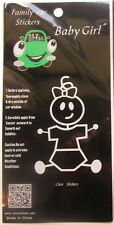 NEW Family Car Clear Decal/Sticker - Funny Baby Girl Stick Figure