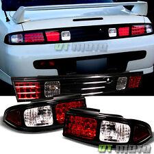 Black 1995-1998 240SX 180SX S14 LED Tail Lights+TRUNK PIECE Brake Lamps 3PCS Set
