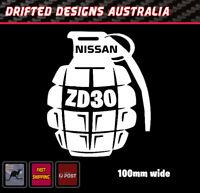 NISSAN GRENADE DECAL ZD30 funny Decal Window Transfer PATROL